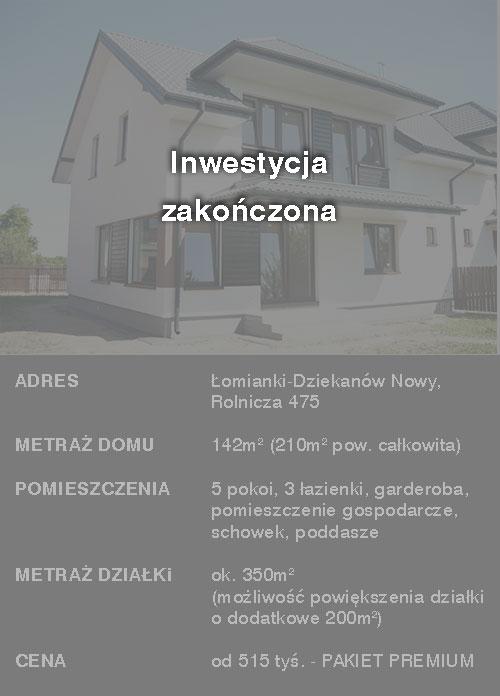 domy łomianki - apartamenty spokojny dziekanów - zrealizowana inwestycja