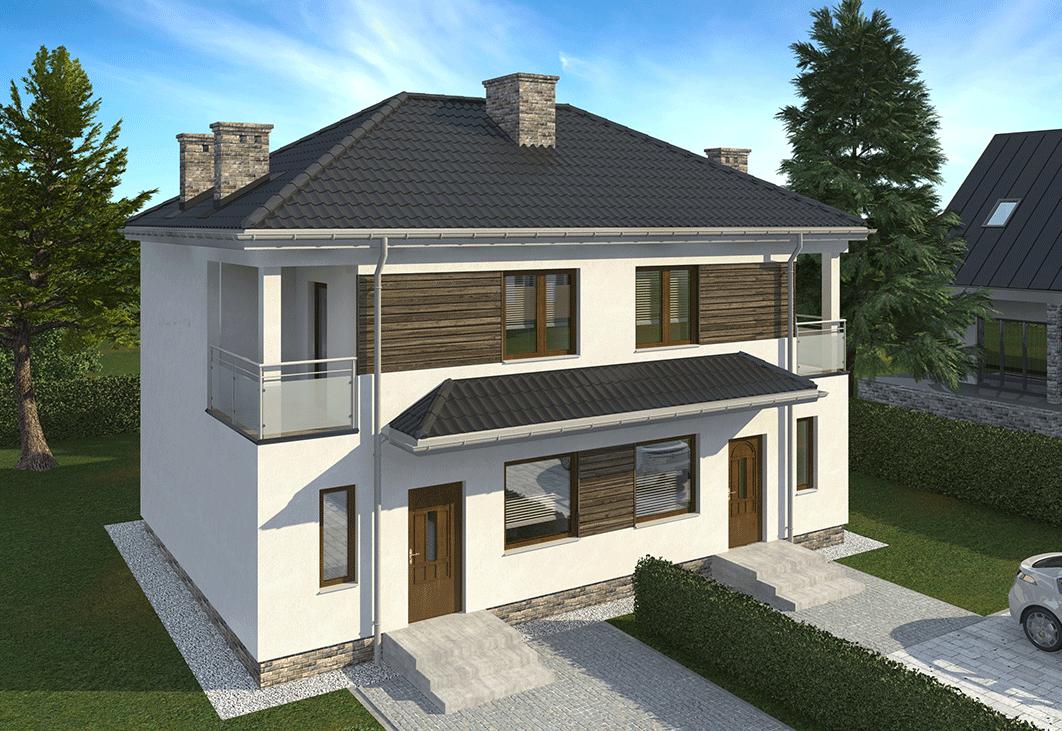 Domy Łomianki Centrum - WIŚLANA 4B - wizualizacja domu